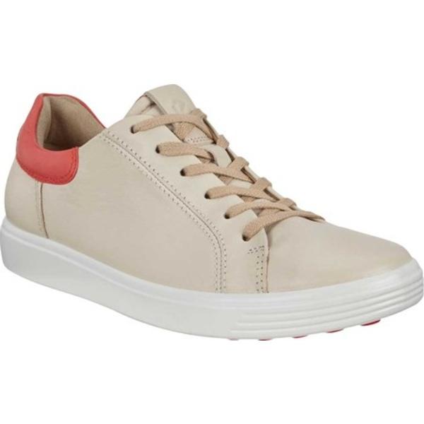 エコー レディース スニーカー シューズ Soft 7 Street Sneaker Vanilla/Coral Blush Cow Leather