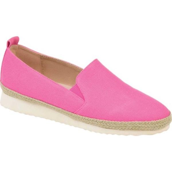 ジャーニーコレクション レディース サンダル シューズ Leela Espadrille Slip On Sneaker Pink Canvas Fabric