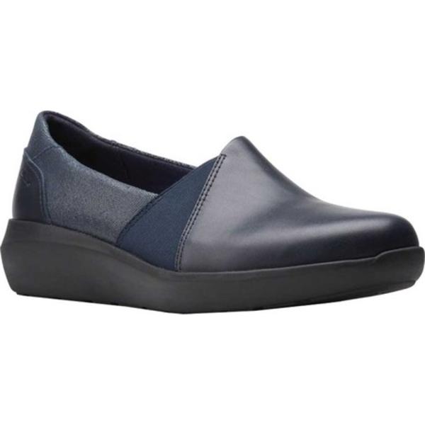 クラークス レディース スニーカー シューズ Kayleigh Step Slip On Sneaker Navy Interest Combi Suede