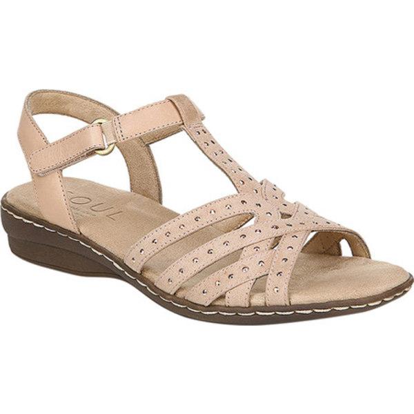 ソウルニュトライザー レディース サンダル シューズ Brielle T Strap Sandal Mauve Leather/Textile