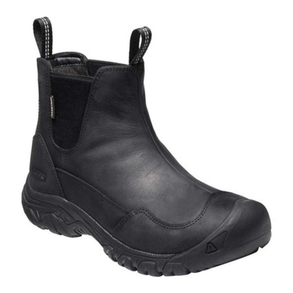 キーン レディース ブーツ&レインブーツ シューズ Hoodoo III Waterproof Chelsea Boot Black/Black
