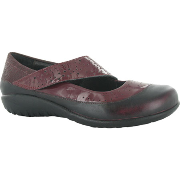 ナオト レディース スニーカー シューズ Aroha Mary Jane Beet Red Patent Leather/Reptile Burgundy Combo