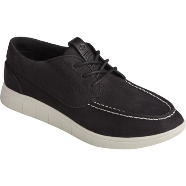 トップサイダー メンズ ブーツ&レインブーツ シューズ Coastal PLUSHWAVE 3-Eye Sneaker Black Nubuck