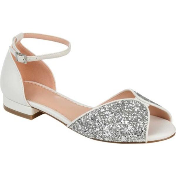 ジャーニーコレクション レディース サンダル シューズ Verona Ankle Strap Sandal White Glitter/Synthetic