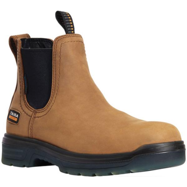 アリアト メンズ ブーツ&レインブーツ シューズ Turbo Chelsea H2O Soft Toe Work Boot New Aged Bark Waterproof Full Grain Leather