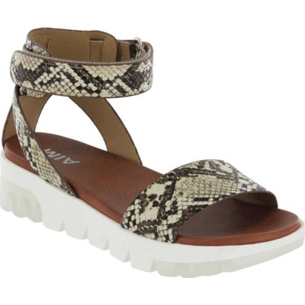 ミア レディース サンダル シューズ Risha-S Ankle Strap Sandal Beige Multi Vegan Snakeskin