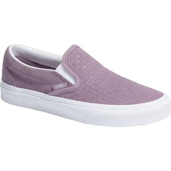 バンズ レディース スニーカー シューズ Slip On Emboss Mini Check Suede Sneaker Nirvana Pink/True White