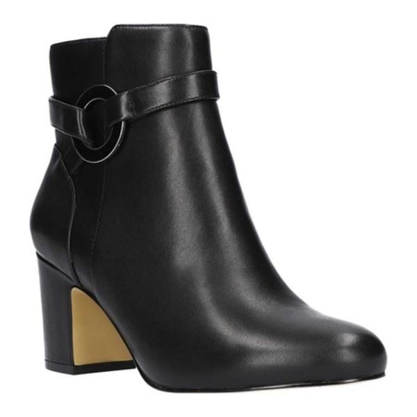ベラヴィータ レディース ブーツ&レインブーツ シューズ Marla Block Heel Ankle Bootie Black Leather