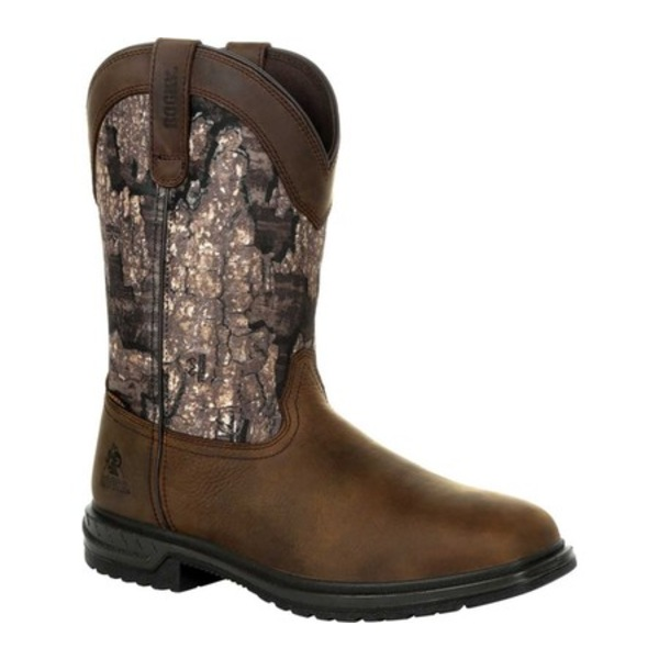ロッキー メンズ ブーツ&レインブーツ シューズ Worksmart Insulated WP Western Boot RKW0326 Realtree Timber Full Grain Leather