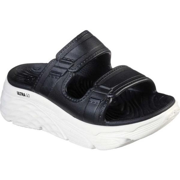 スケッチャーズ レディース サンダル シューズ Cali Gear Max Cushioning Incite Slide Black/White