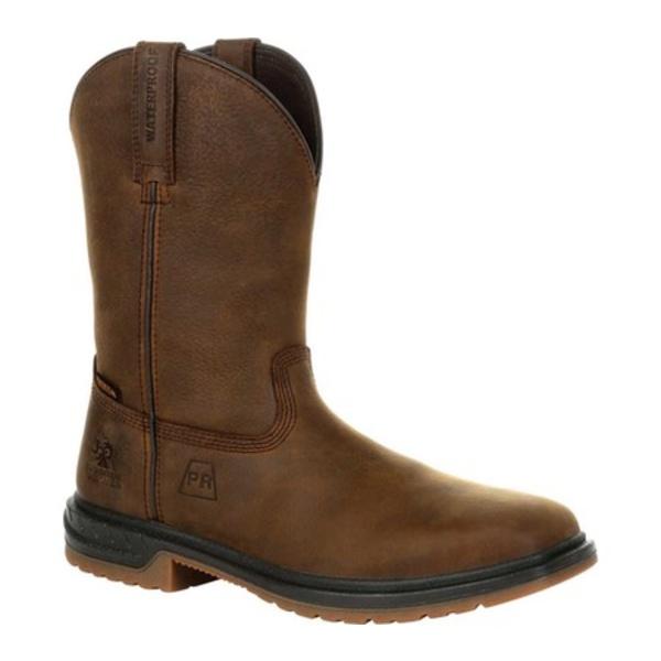 ロッキー メンズ ブーツ&レインブーツ シューズ Worksmart PR Composite Toe Waterproof Boot RKW0325 Brown Full Grain Leather