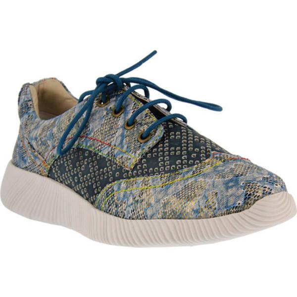 スプリングステップ レディース スニーカー シューズ Cozi Sneaker Blue Multi Leather/Synthetic