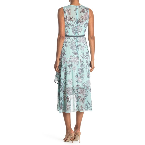 お得 信憑 トミー ヒルフィガー レディース トップス ワンピース SEASPRY GR Maxi 全商品無料サイズ交換 Dress Chiffon Belted Floral