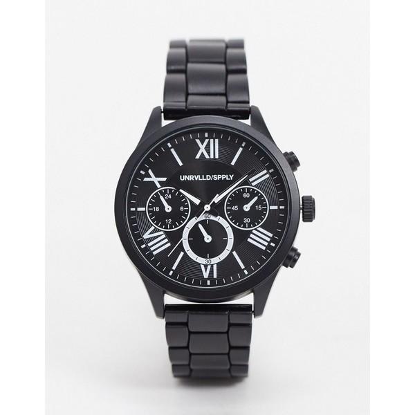 エイソス メンズ 腕時計 アクセサリー ASOS DESIGN gift watch in black with interchangeable straps Black