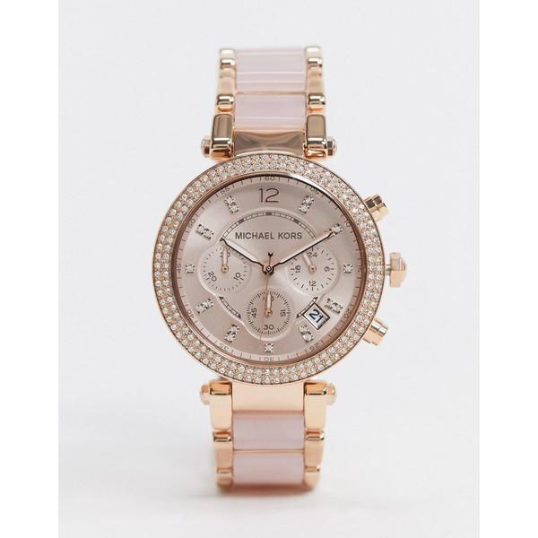 マイケルコース レディース 腕時計 アクセサリー Michael Kors Parker rose gold pink bracelet watch MK5896 Rose gold