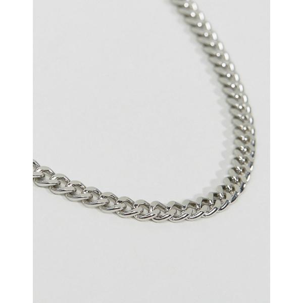エイソス メンズ ネックレス・チョーカー アクセサリー ASOS DESIGN midweight chain in silver tone SilverlTFKJ1c