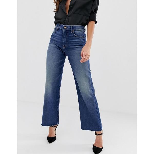7フォーオールマンカインド レディース デニムパンツ ボトムス 7 For All Mankind Alexa cropped jeans with raw hem Luxe vintage hem
