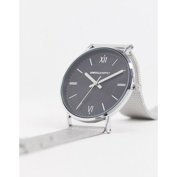 エイソス メンズ 腕時計 アクセサリー ASOS DESIGN mesh watch in silver tone Silver