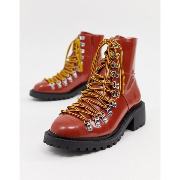 エイソス レディース ブーツ&レインブーツ シューズ ASOS DESIGN Ablaze chunky hiker boots Conker box