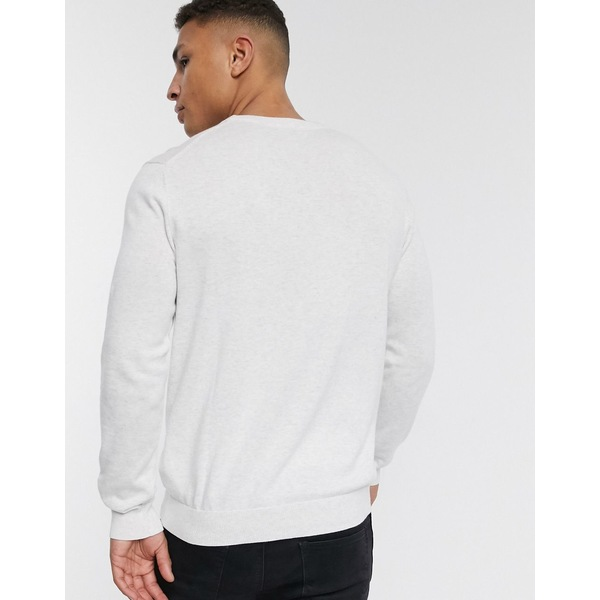 エスプリ メンズ ニット&セーター アウター Esprit knit sweater with crew neck in light gray Gray