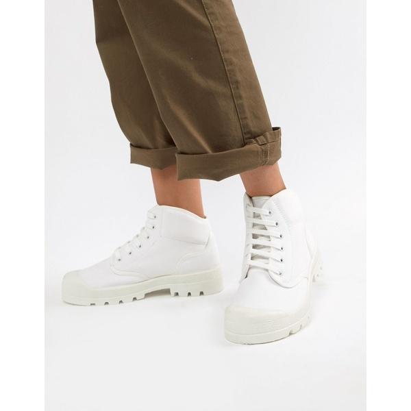 エイソス レディース スニーカー シューズ ASOS DESIGN Dissolve lace up boots White
