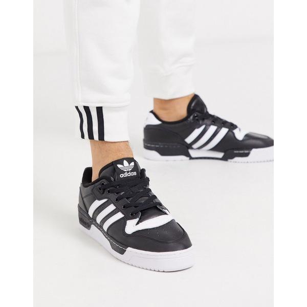 アディダスオリジナルス メンズ スニーカー シューズ adidas Originals rivalry low sneakers in black Bk1 - black 1