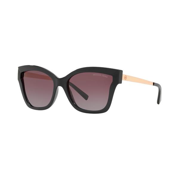 マイケルコース レディース サングラス&アイウェア アクセサリー Polarized Sunglasses, MK2072 56 BARBADOS BLACK INJECTED / GREY PURPLE GRADIENT POLAR