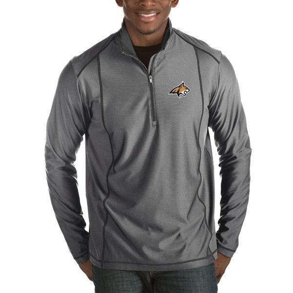 アンティグア メンズ ジャケット&ブルゾン アウター Montana State Bobcats Antigua Tempo HalfZip Pullover Big & Tall Jacket Charcoal