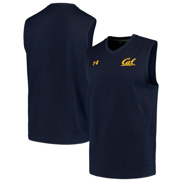 アンダーアーマー メンズ ジャケット&ブルゾン アウター Cal Bears Under Armour Knit Vest Navy