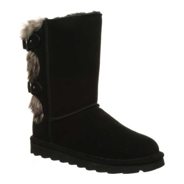 ベアパウ レディース ブーツ&レインブーツ シューズ Eloise Mid Calf Boot Black II Suede
