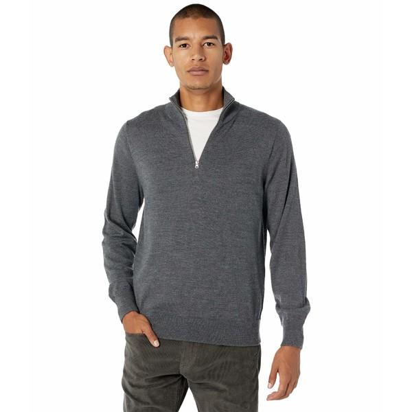 ジェイクルー メンズ アウター ニットセーター Heather Gravel 全商品無料サイズ交換 1着でも送料無料 Merino Half-Zip Wool 中古 Sweater Washable