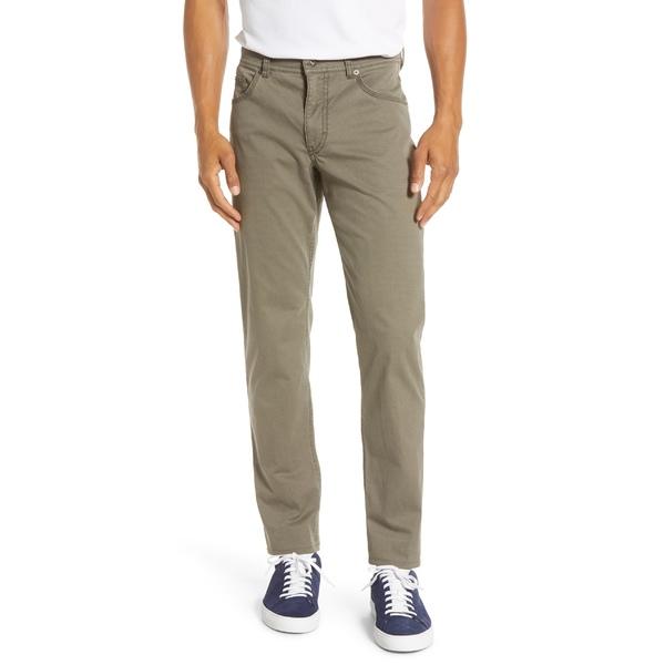 ブラックス メンズ カジュアルパンツ ボトムス Brax Diamond Weave Stretch Dress Pants Olive