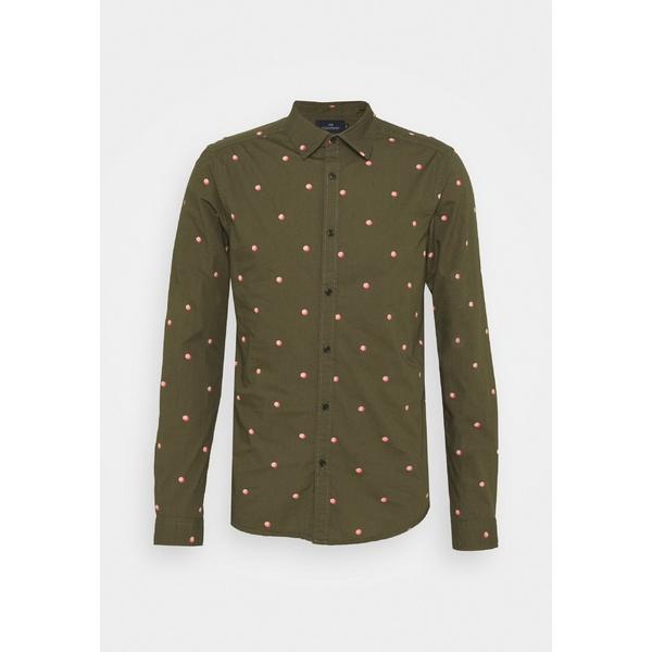 スコッチアンドソーダ メンズ ショッピング トップス 2020春夏新作 シャツ dark green light pink 全商品無料サイズ交換 - WITH uidt0016 FIT OVER PRINT ALL Shirt SLIM