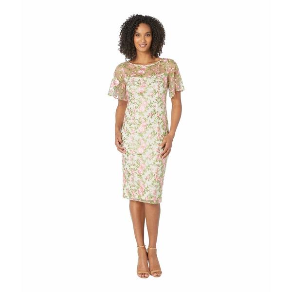 アドリアナ パペル レディース ワンピース トップス Winding Blooms Sheath Dress Coral Multi