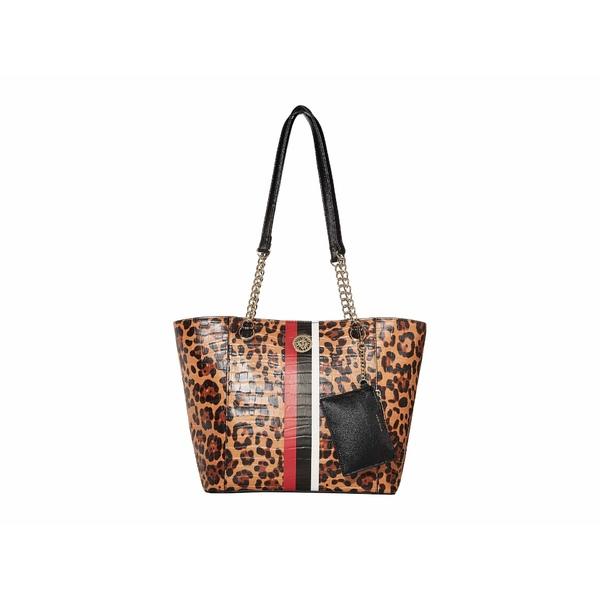 アンクライン レディース ハンドバッグ バッグ Stripe Chain Tote Leopard