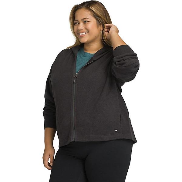 プラーナ レディース ジャケット&ブルゾン アウター Prana Women's Cozy Up Zip Up Jacket - Plus Charcoal Heather