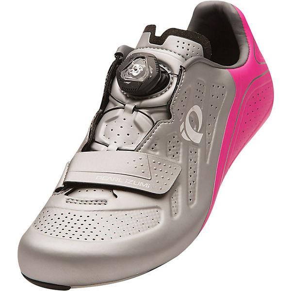 パールイズミ レディース サイクリング スポーツ Pearl Izumi Women's ELITE Road v5 Shoe Silver/Pink Glo