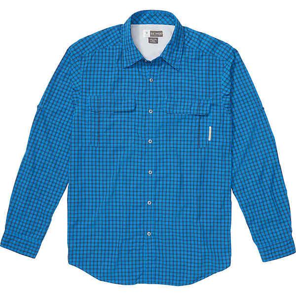 エクスオフィシオ メンズ ハイキング スポーツ ExOfficio Men's BugsAway Halo Check LS Shirt Dk Navy