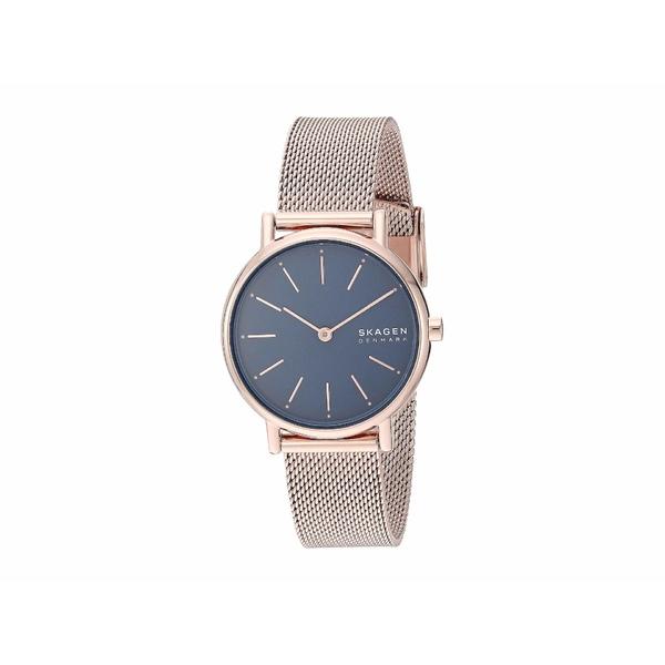 スカーゲン レディース 腕時計 アクセサリー Signatur Two-Hand Women's Watch SKW2837 Rose Gold Stainless Steel Mesh