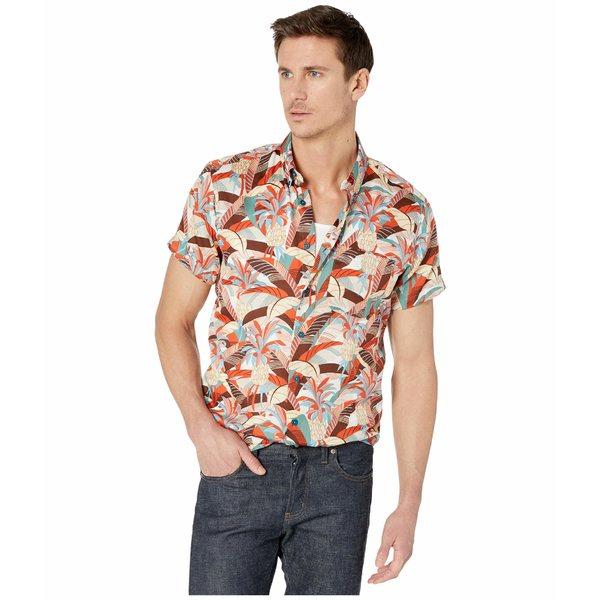ナイキッドアンドフェイマス メンズ シャツ トップス Short Sleeve Easy Shirt Jungle Vacation/Orange/Teal