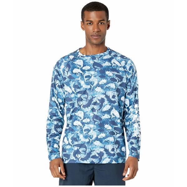 コロンビア メンズ シャツ トップス Super Terminal Tackle Long Sleeve Shirt Collegiate Navy Inside Out Camo