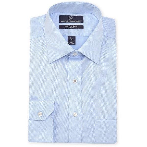 ハートシャファネールマークス メンズ シャツ トップス Non-Iron Classic Fit Spread Collar Solid Dress Shirt Light Blue