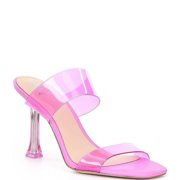 アルド レディース サンダル シューズ x Disney Step Sisters Clear Banded Square Toe Cinderella Stiletto Heels Pink