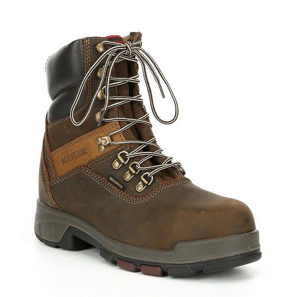 ウルヴァリン メンズ ブーツ&レインブーツ シューズ Men's Cabor 8#double; Composite Toe Waterproof Slip Resistant 8#double; Work Boot Dark Brown