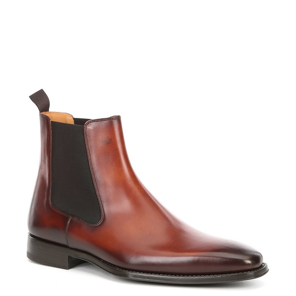 マグナーニ メンズ ブーツ&レインブーツ シューズ Men's Sean Leather Chelsea Boot Cognac