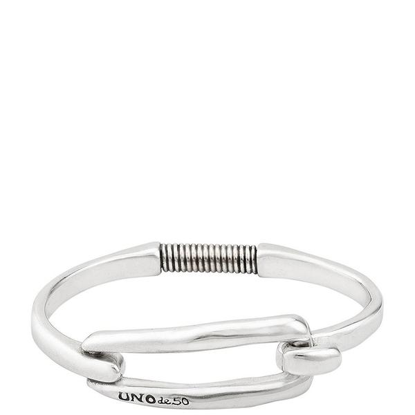 ウノデフィフティ メンズ ブレスレット・バングル・アンクレット アクセサリー Tied Bangle Bracelet Silver