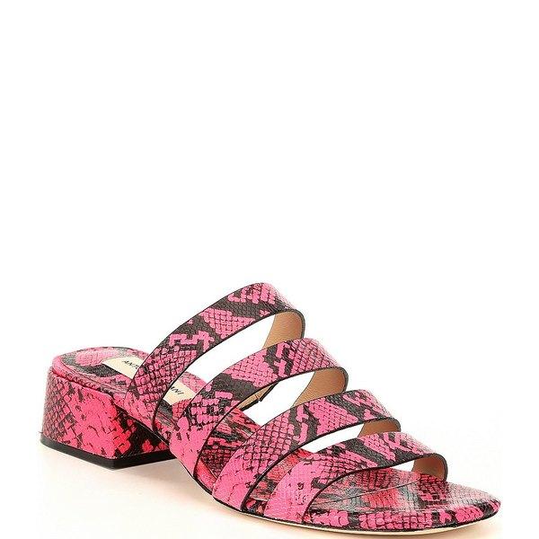 アントニオメラニー レディース サンダル シューズ Cosgrove Snake Print Leather Banded Dress Sandals Black/Neo Pink