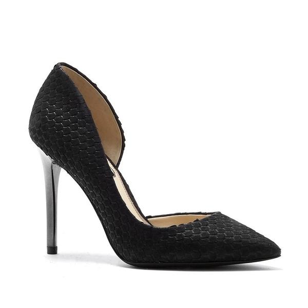 ジェシカシンプソン レディース パンプス シューズ Lucina Snake Embossed Iridescent Heel Pumps Black