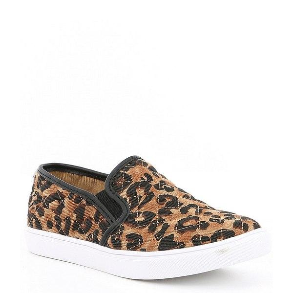 スティーブ マデン レディース スニーカー シューズ Ecentrcq Leopard Quilted Slip-On Sneakers Leopard
