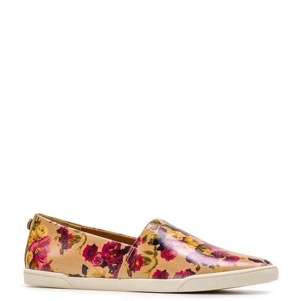パトリシアナシュ レディース スニーカー シューズ Lola Floral Print Leather Slip On Sneakers Antique Rose
